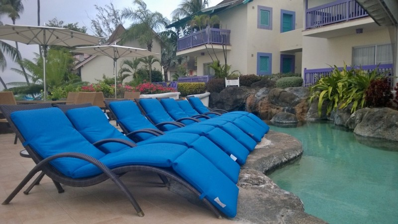 Poolside lounge chairs