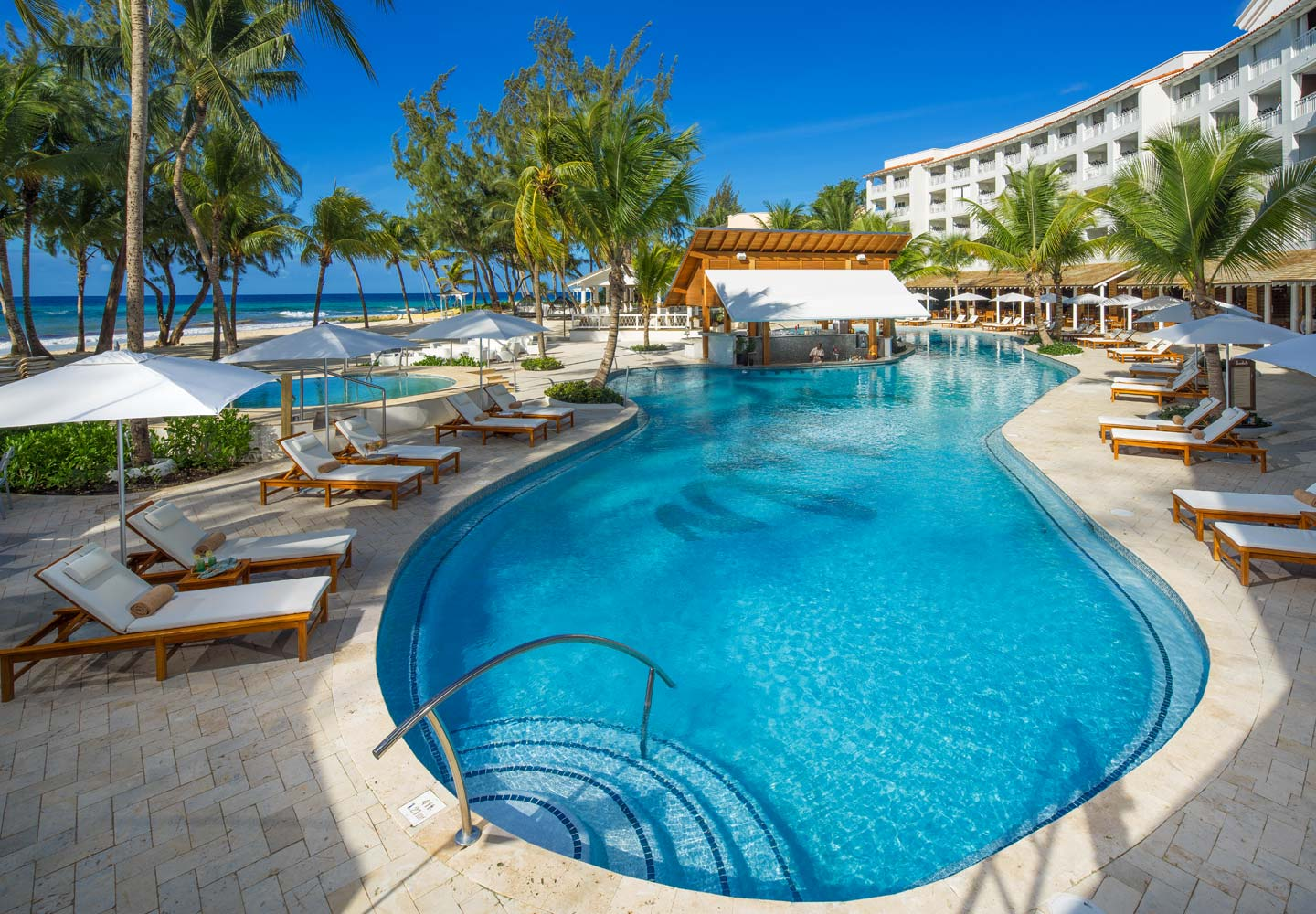 Sandals Barbados beachfront pool